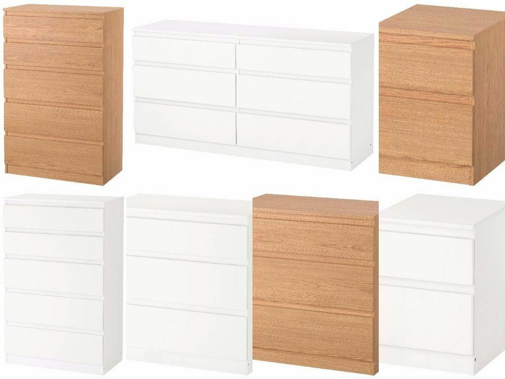 Ikea Kullen Chest Of Drawers Bedroom Furniture White Oak Effect Picclick Uk