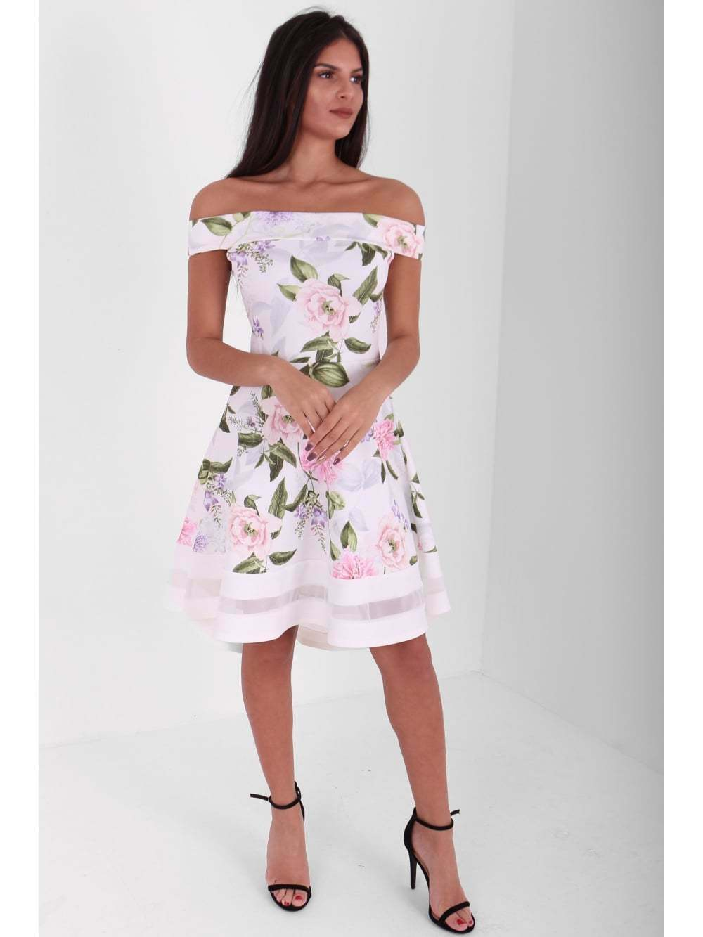 Floral ladies dress wedding guest outfit race day occasion for Daytime dresses for wedding guests