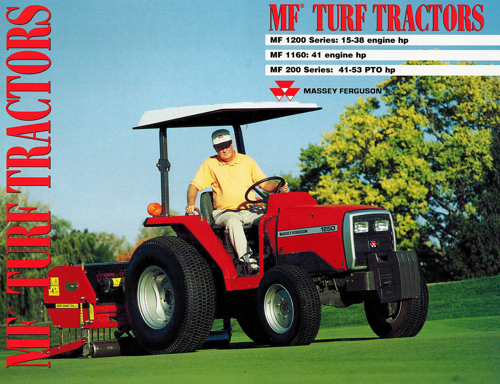 Massey Ferguson 200 Series 1160 1200 Series Turf Tractors Sales Brochure 1  of 5Only 1 available ...