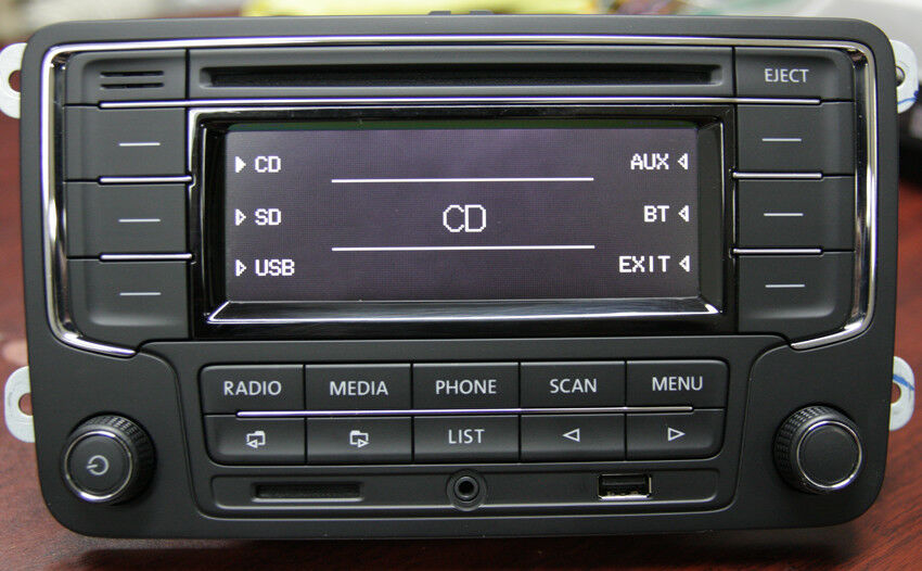 vw car stereo rcn210 bluetooth cd usb aux sd golf tiguan. Black Bedroom Furniture Sets. Home Design Ideas