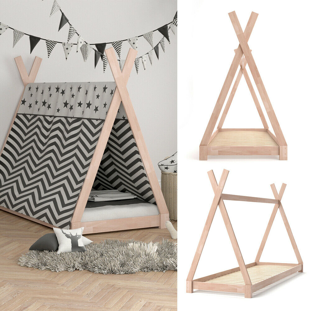 vicco kinder bett tipi kinderhaus indianer zelt holz. Black Bedroom Furniture Sets. Home Design Ideas