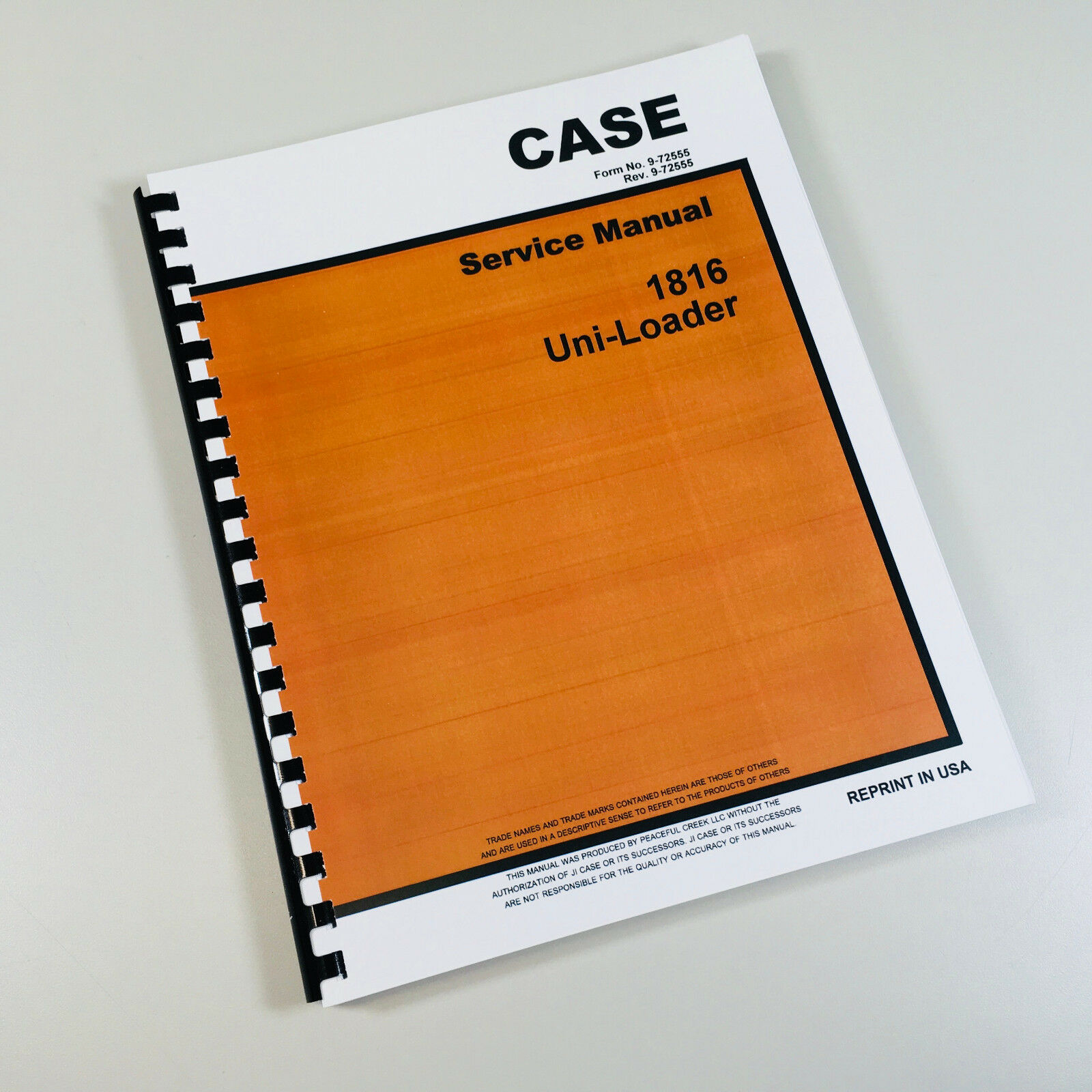 Case 1816 Uni Loader Skid Steer Service Repair Manual Technical Shop Book 1  of 9FREE Shipping ...