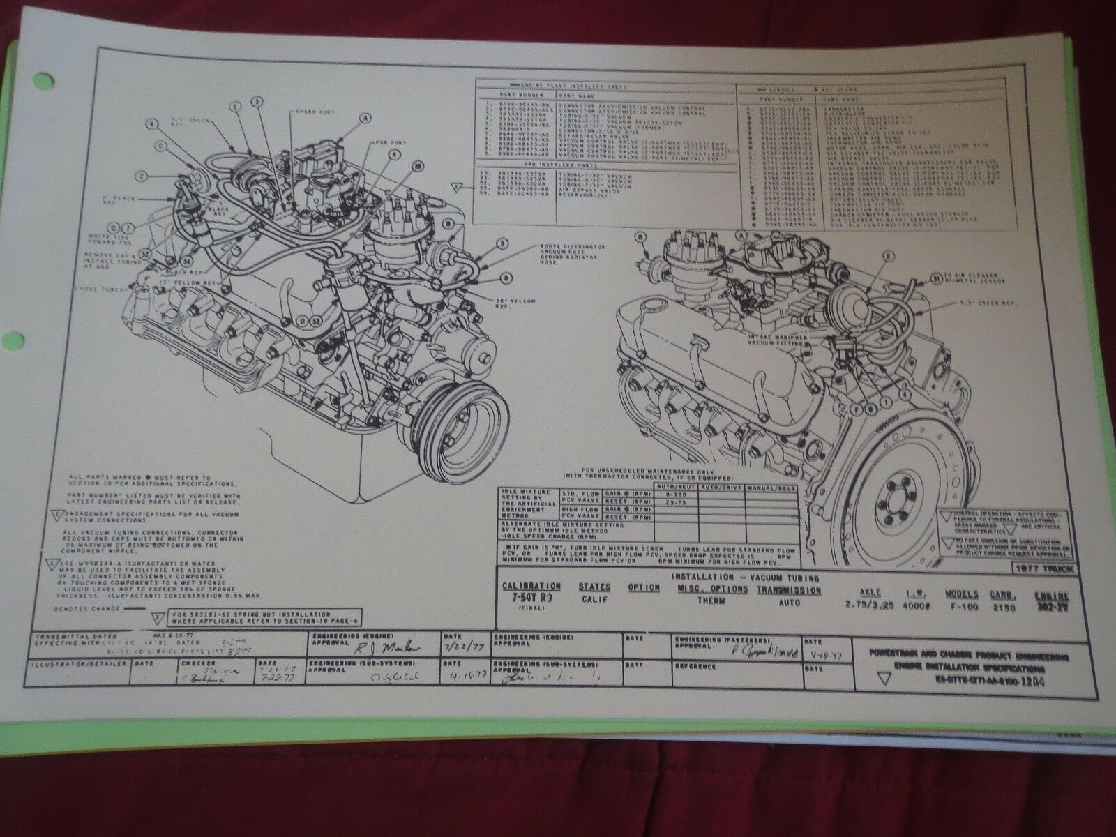 Vacuum Line Diagram 1977 Ford 302 Electrical Wiring Diagrams For A 1975 F100 5 0 Schematic 1983 F 150