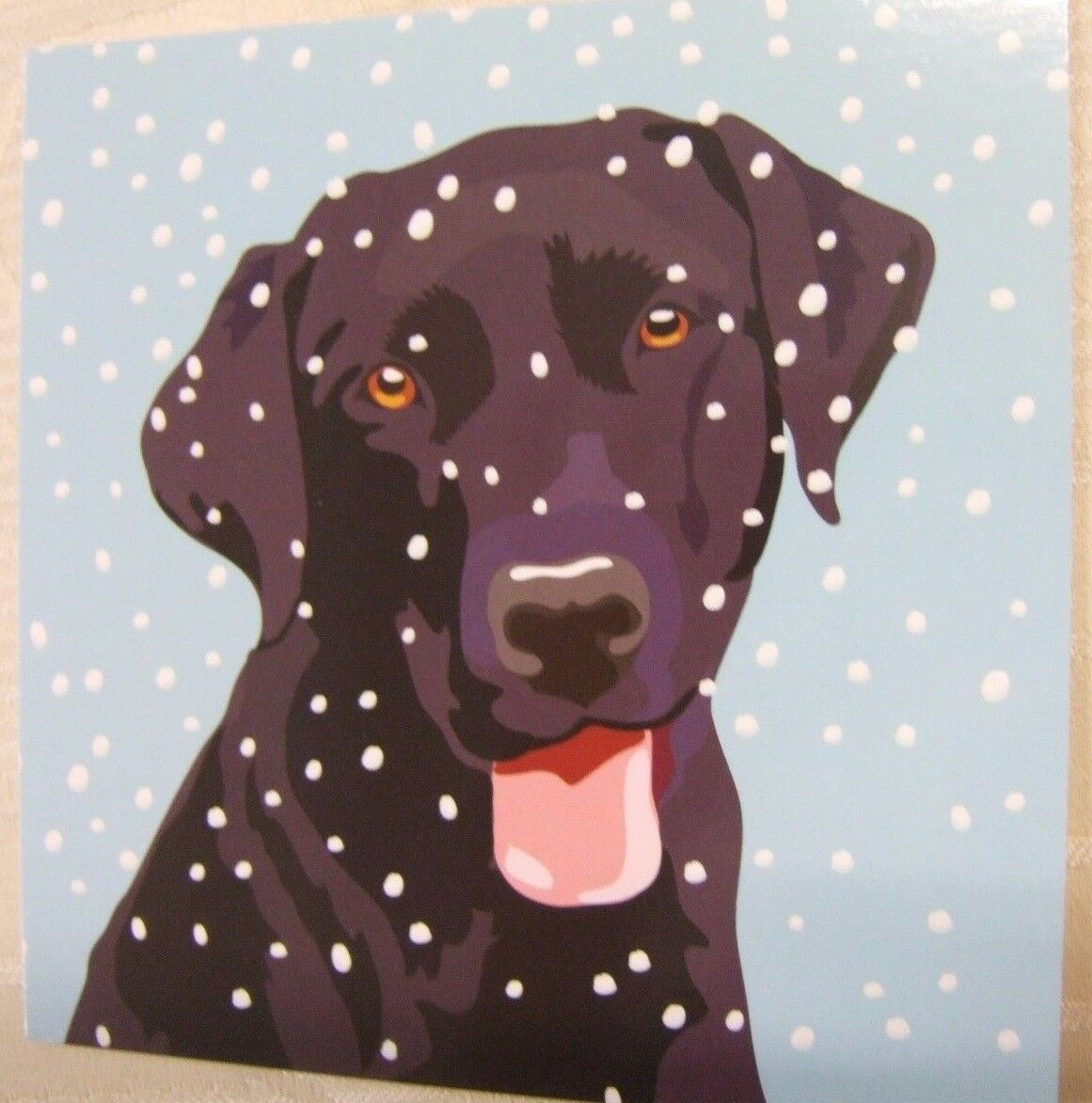 LOVELY BLACK LABRADOR Dog Quality Christmas Cards Pack of 10 ~100 ...