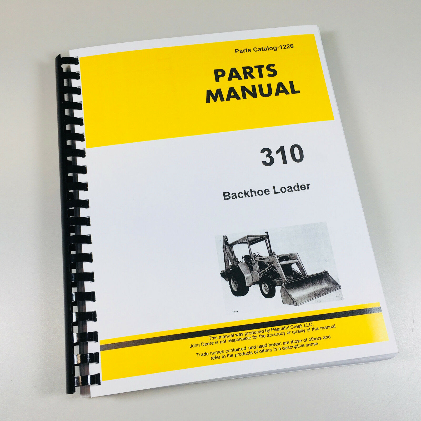 Parts Manual For John Deere 310 Tractor Backhoe Loader Catalog Assembly 1  of 5FREE Shipping ...
