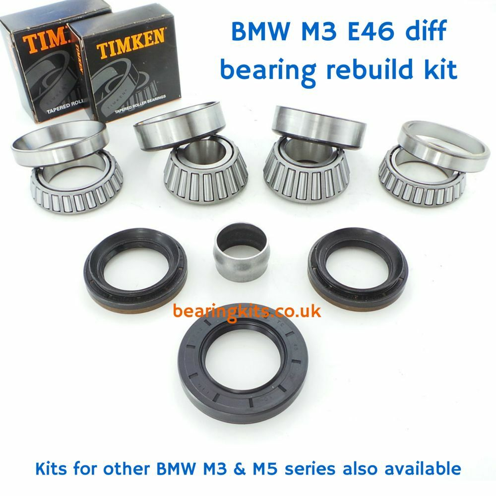bmw m3 e46 s54 rear differential rebuild kit diff bearings. Black Bedroom Furniture Sets. Home Design Ideas
