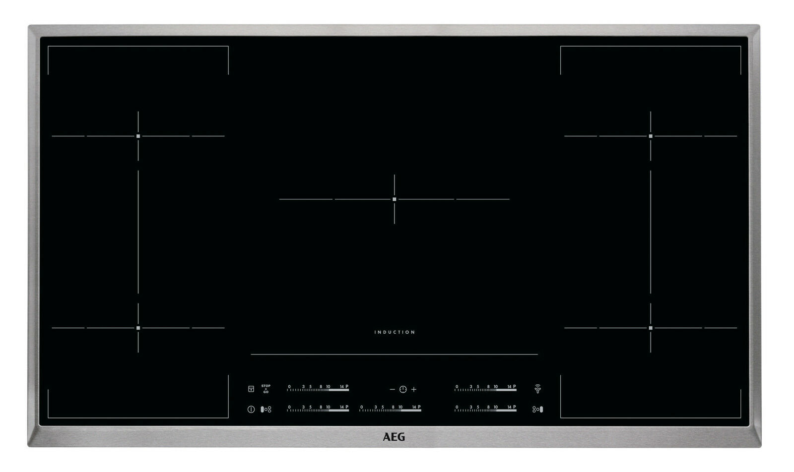 aeg hkm95513xb kochfeld induktion hob2hood funktion 90 cm edelstahlra eur 614 90. Black Bedroom Furniture Sets. Home Design Ideas