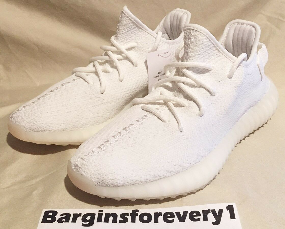 070a4841e6b9a0 New Adidas Yeezy Boost 350 V2 (Cream) - Size 8.5 - White White - CP9366 -  Kanye 1 of 12Only 1 available ...
