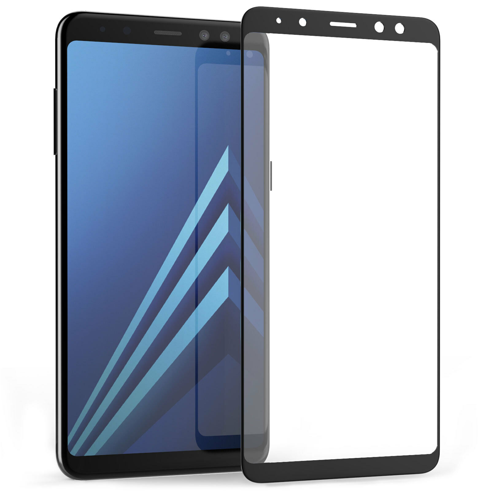 tempered glass screen protector film guard protection for samsung galaxy a8 2018. Black Bedroom Furniture Sets. Home Design Ideas