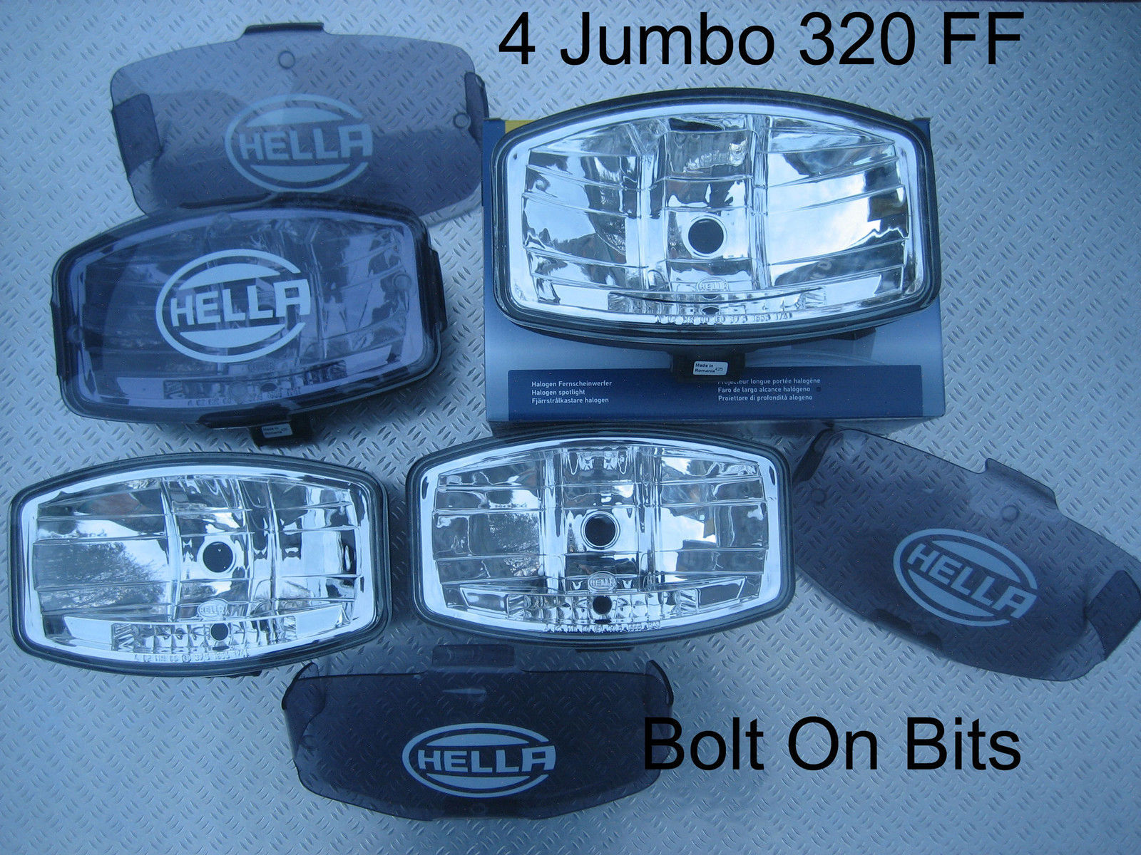 4 24v Hella Jumbo 320 Ff Spot Light Lamps Covers Kelsa Bar Scania Spotlight Wiring Diagram 1 Of 1only 5 Available