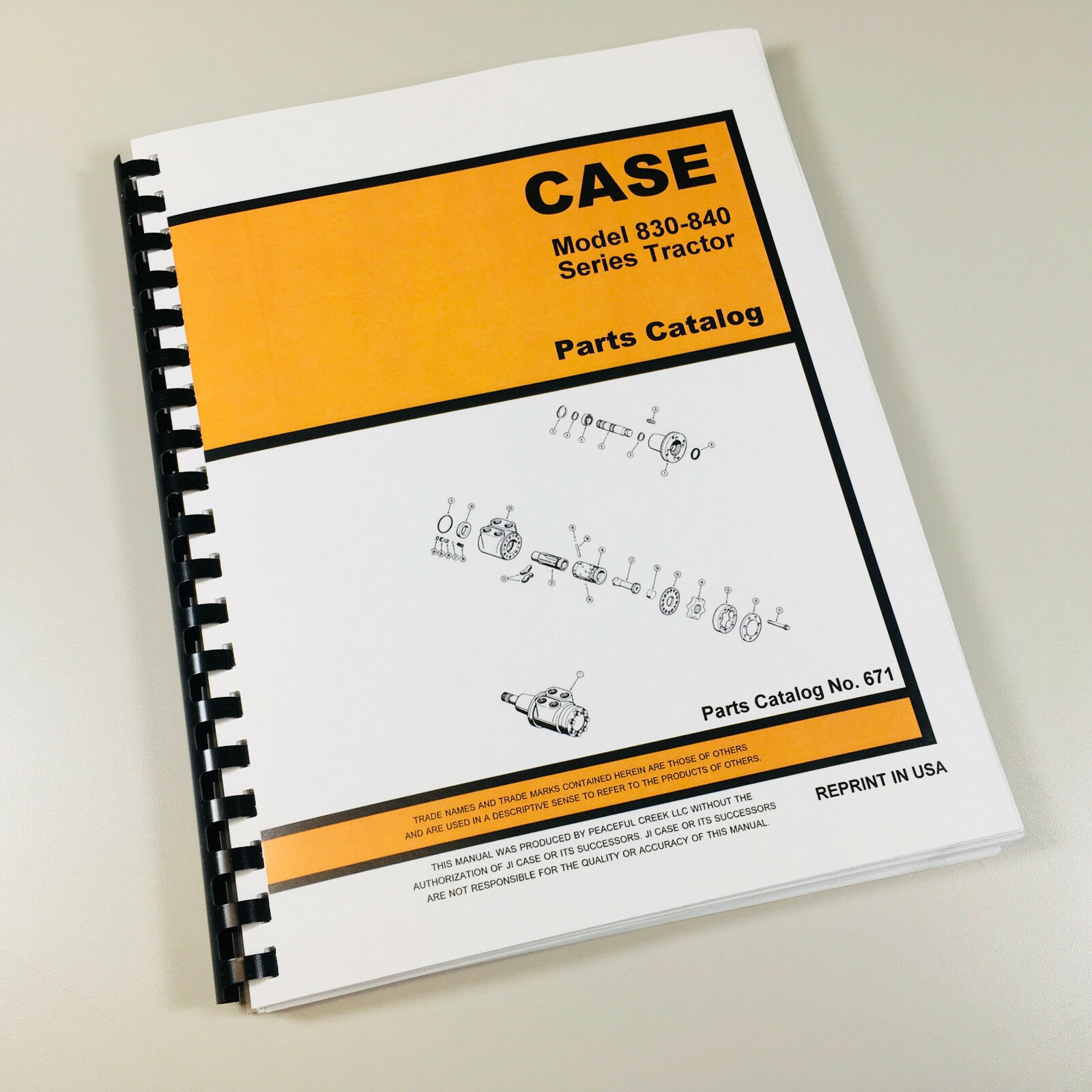 Case 830 840 Series Tractor Parts Manual Catalog Assembly Numbers Exploded  Views 1 of 7FREE Shipping See More
