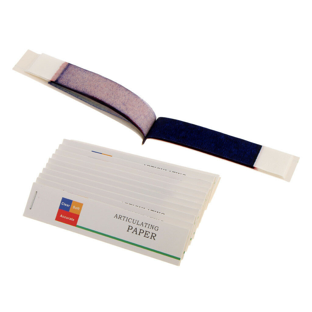 Dental Articulating Paper Red Blue Thin Thick Strips Supply 12 Books / Box 1 of 4FREE