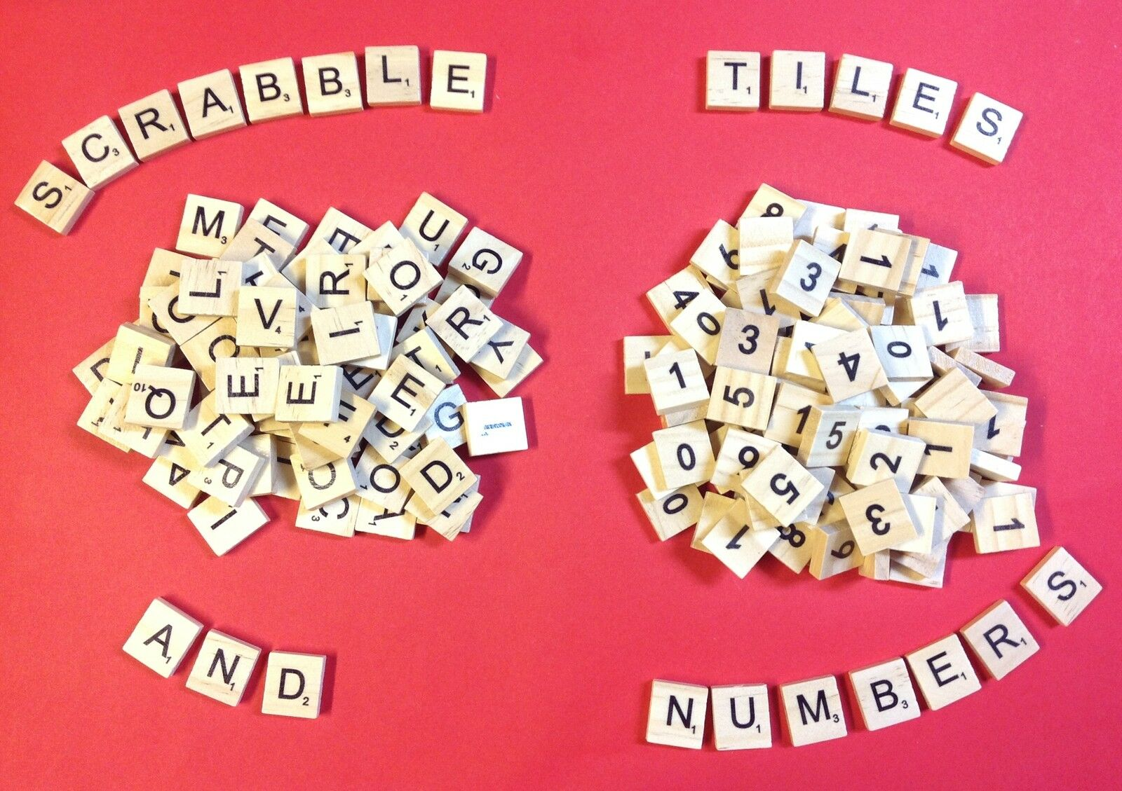 Individual Scrabble Tiles Letters Symbols High Quality Wooden