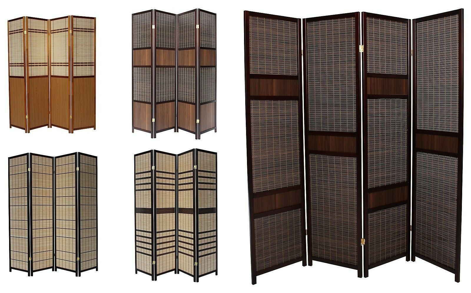 luxury wood panel folding room divider privacy screen high quality heavy weight. Black Bedroom Furniture Sets. Home Design Ideas