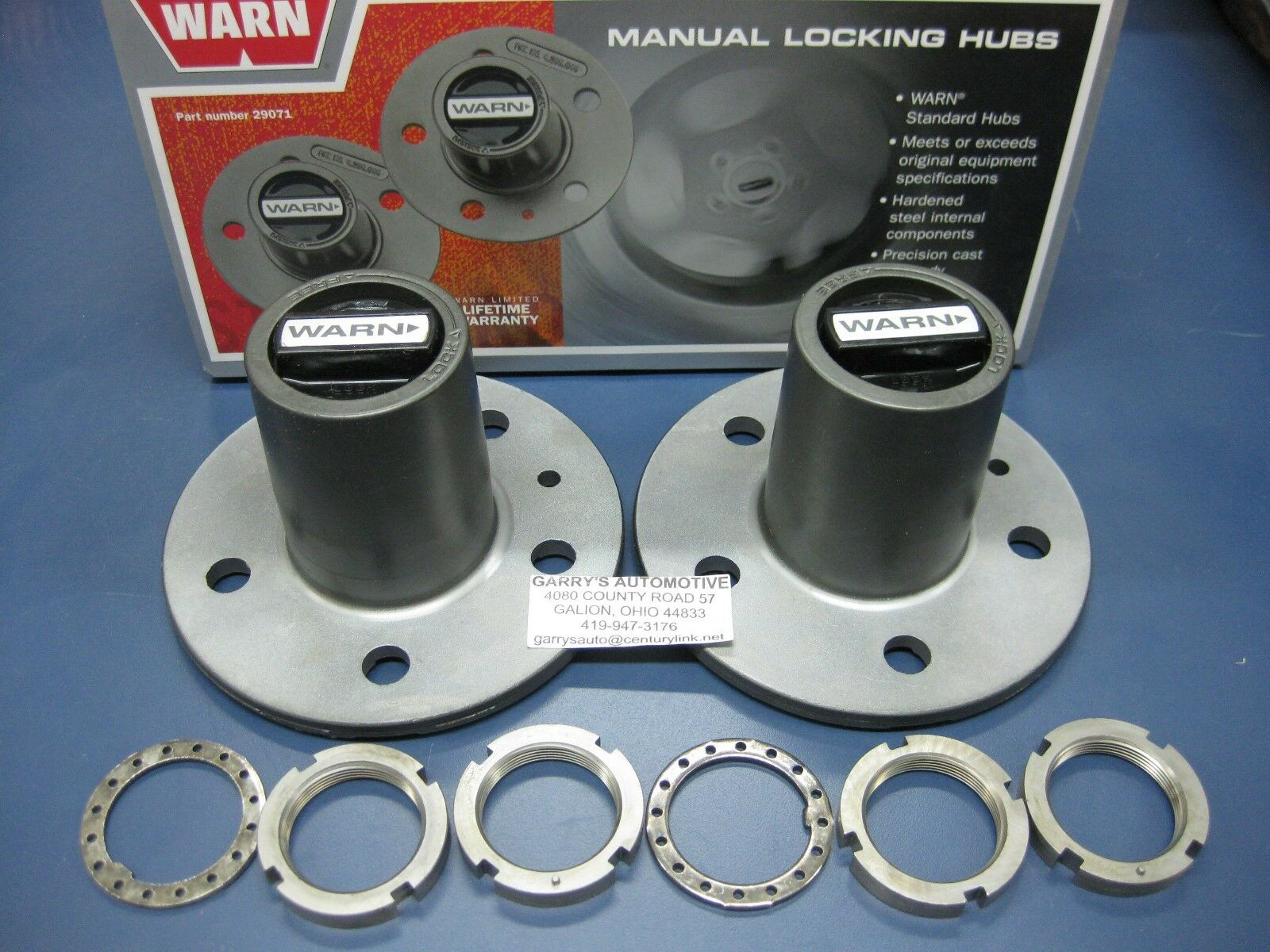 WARN 29071 4WD Manual Locking Hubs Conversion Ranger Explorer Mazda Truck  Navajo 1 of 2 See More
