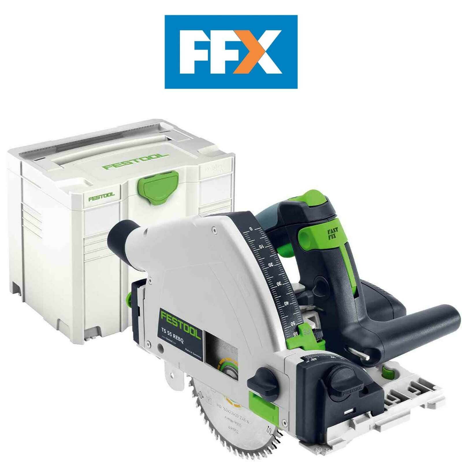 festool 561553 ts55rebq-plus 240v circular/plunge saw in systainer