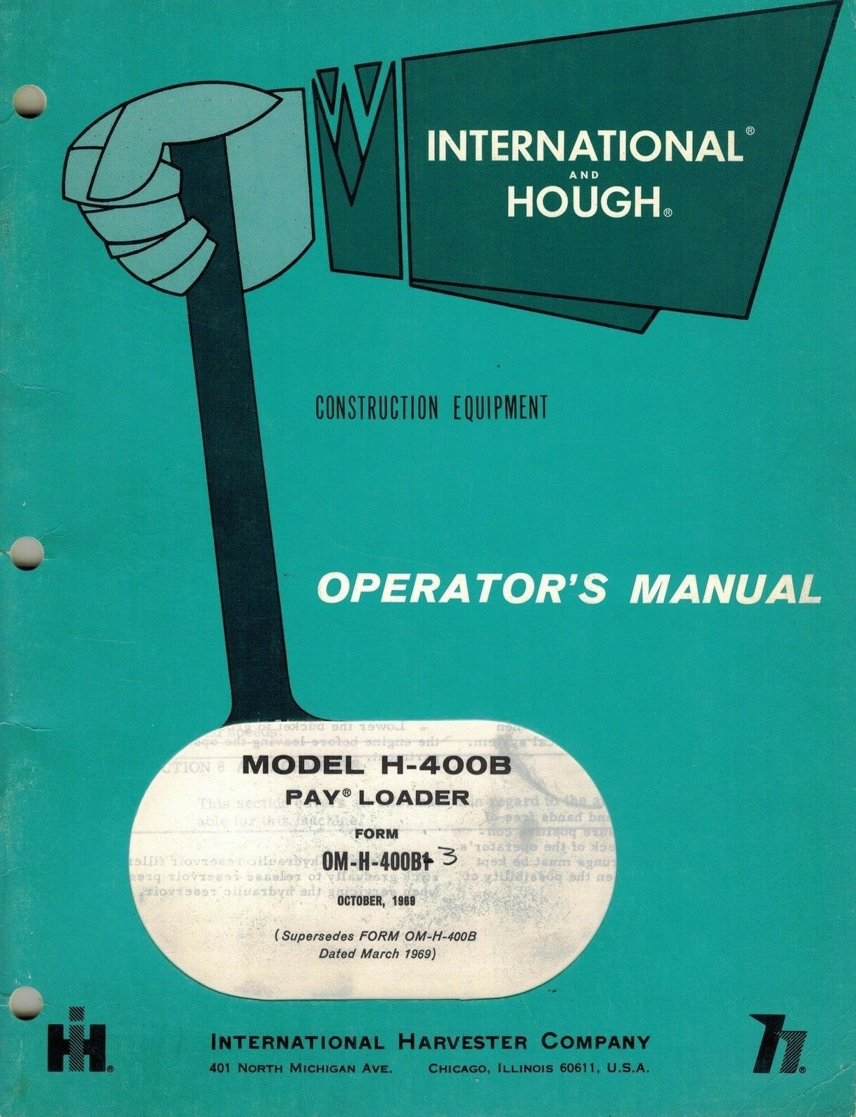International/hough H-400B Pay Loader Operator's Manual 1 of 6Only 1  available ...