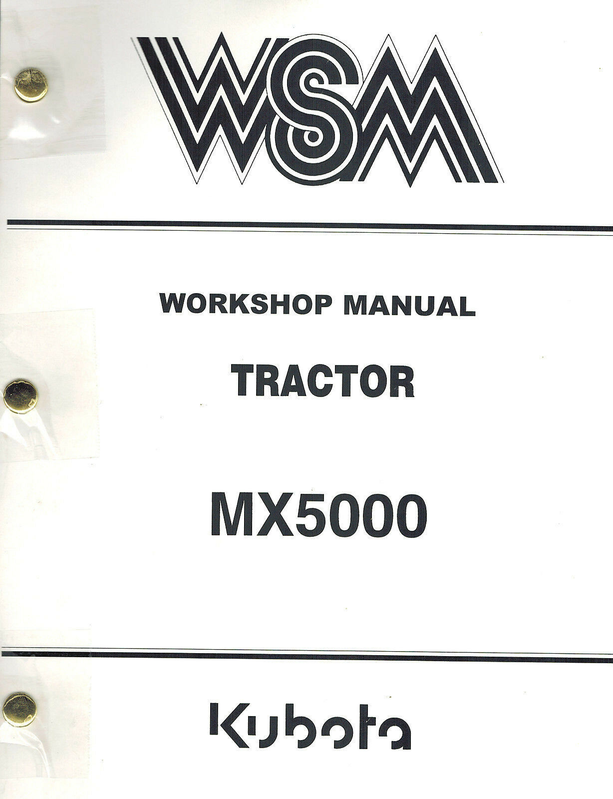 Kubota Mx5000 Tractor Workshop Manual 1 of 6Only 1 available ...