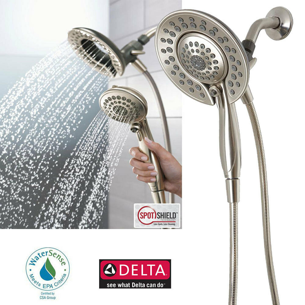 Delta In2ition 5 Function Handheld Dual Shower Head 2 In 1, Brushed 1 Of 1FREE  Shipping ...