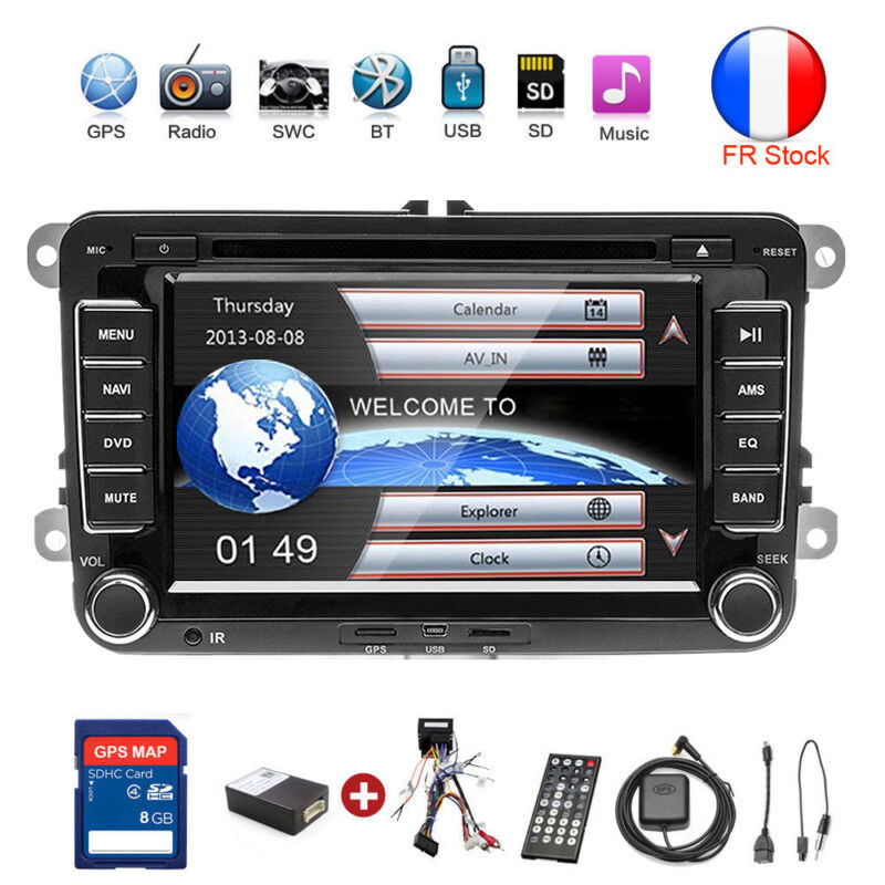 autoradio 2 din gps navi dvd bluetooth f r vw golf 5. Black Bedroom Furniture Sets. Home Design Ideas
