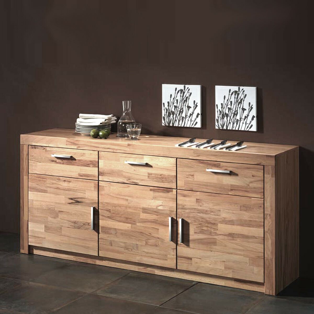 sideboard berlin kommode in kernbuche teilmassiv dekor. Black Bedroom Furniture Sets. Home Design Ideas