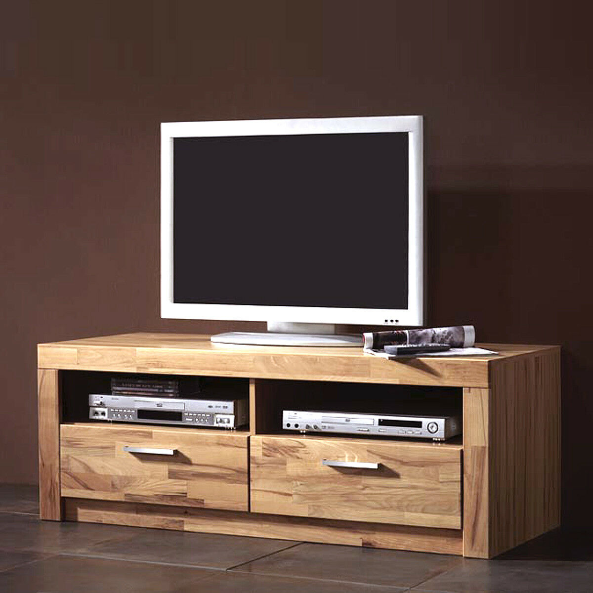 tv board berlin lowboard kern buche massiv neu. Black Bedroom Furniture Sets. Home Design Ideas