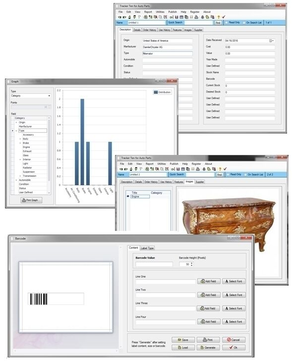 American & World Art Antique General Inventory Value Tracking Database Software