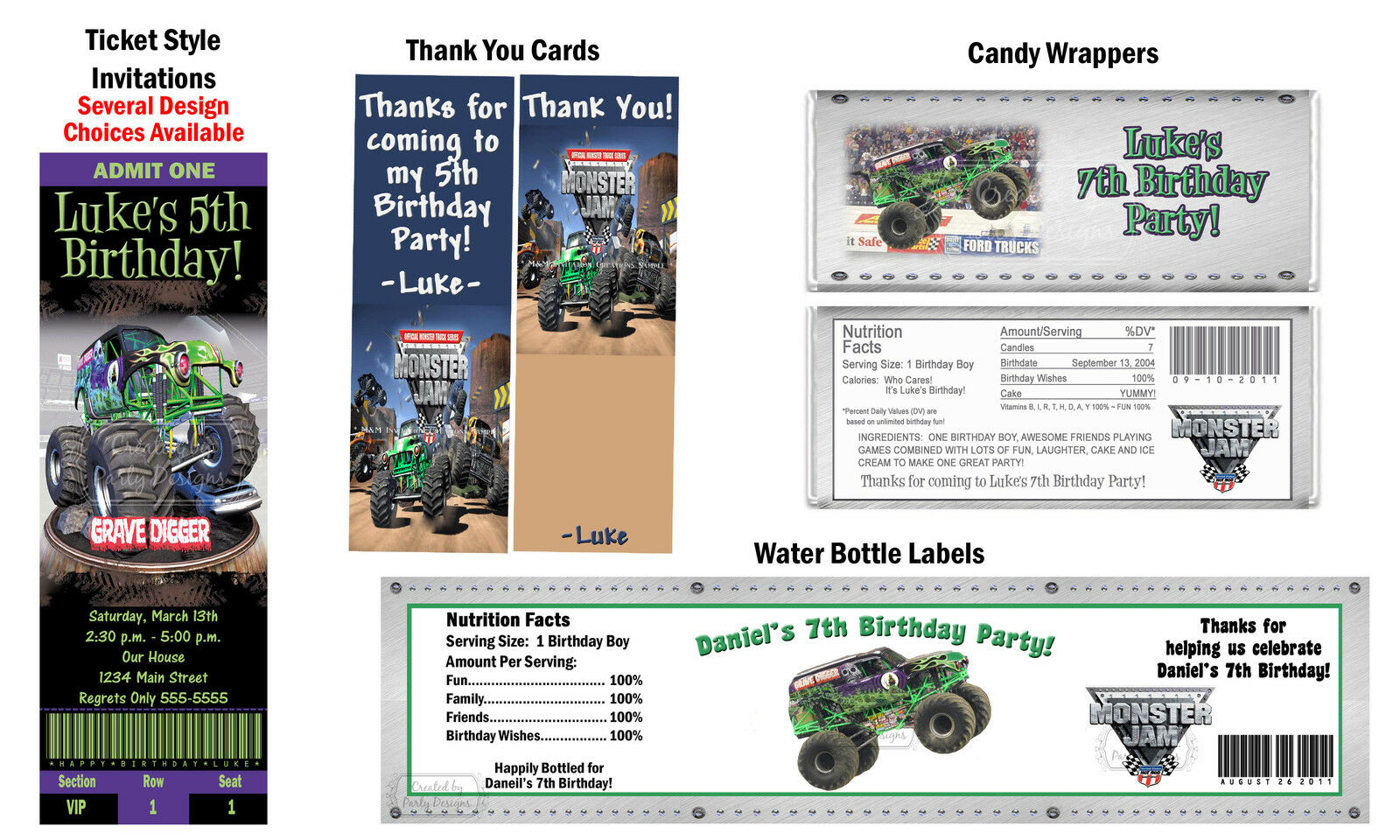 Grave Digger Birthday Party Invitations Image collections