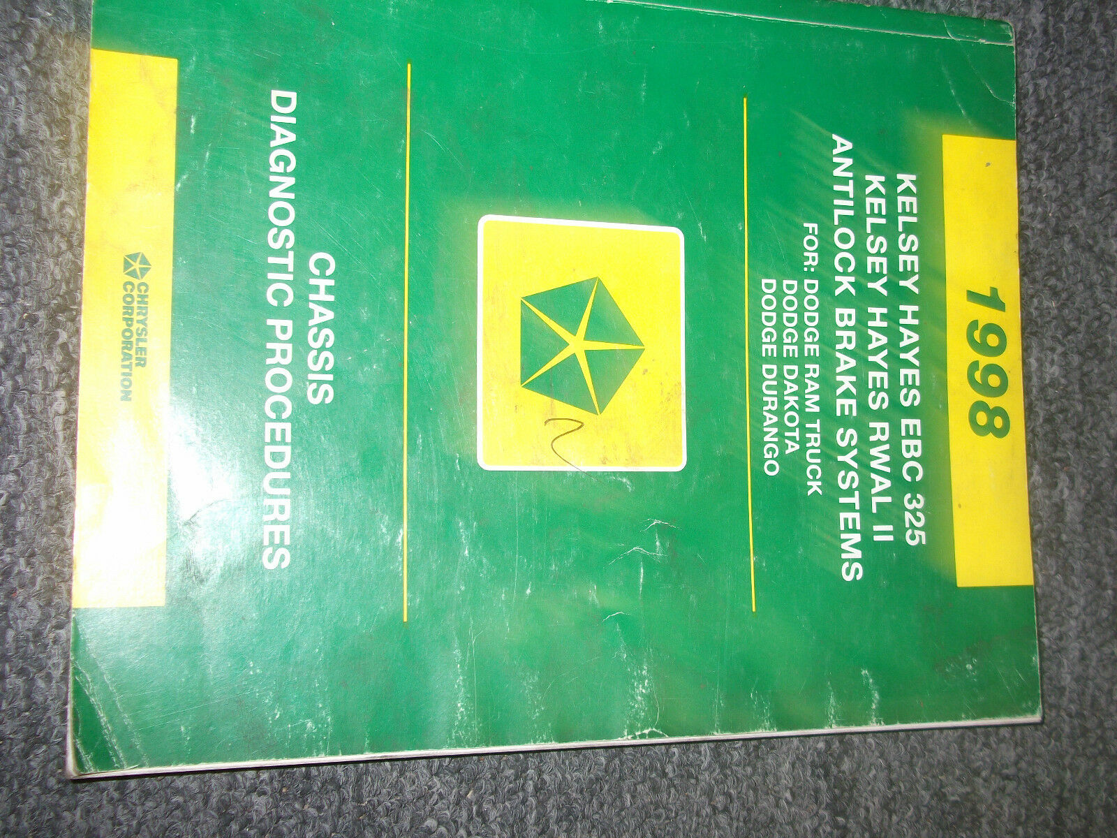 1998 Dodge DURANGO TRUCK CHASSIS DIAGNOSTIC Service Shop Repair Manual 98  OEM 1 of 2Only 3 available ...
