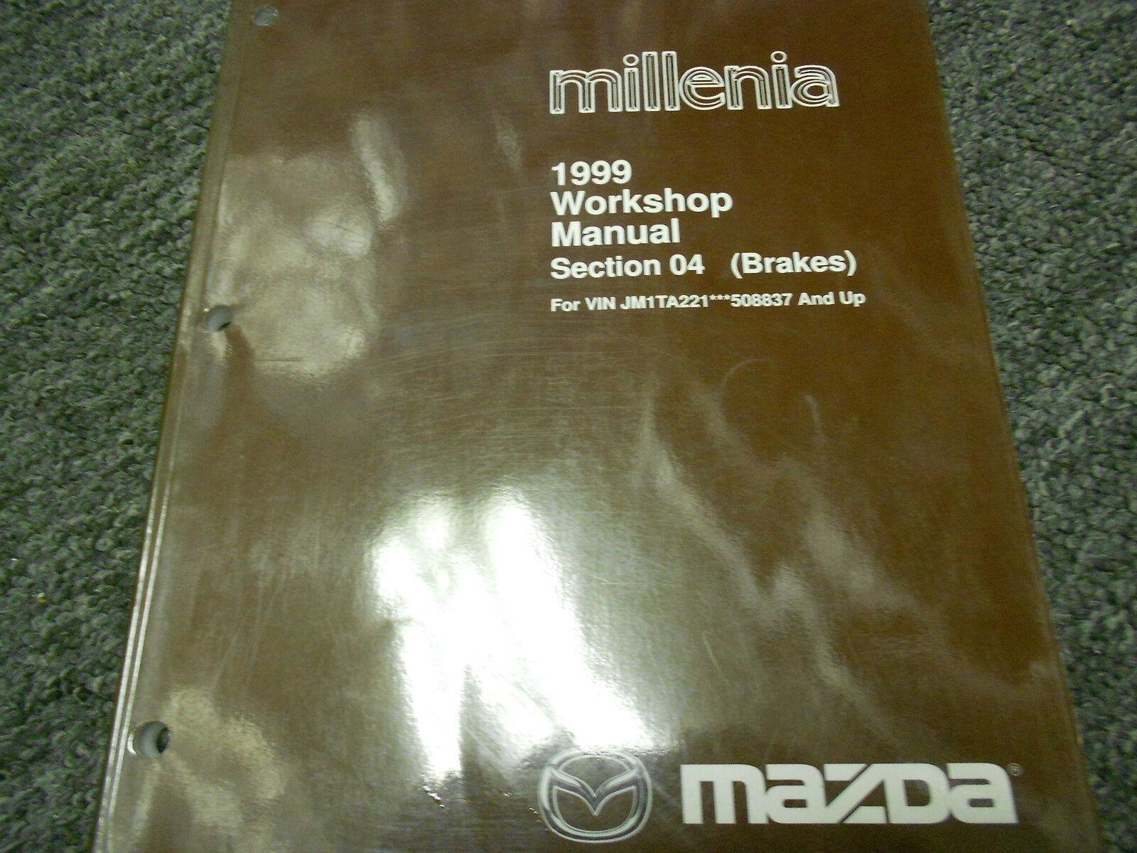 1999 Mazda Millenia Section 04 Brakes Workshop Service Repair Shop Manual  OEM 99 1 of 8Only 3 available ...
