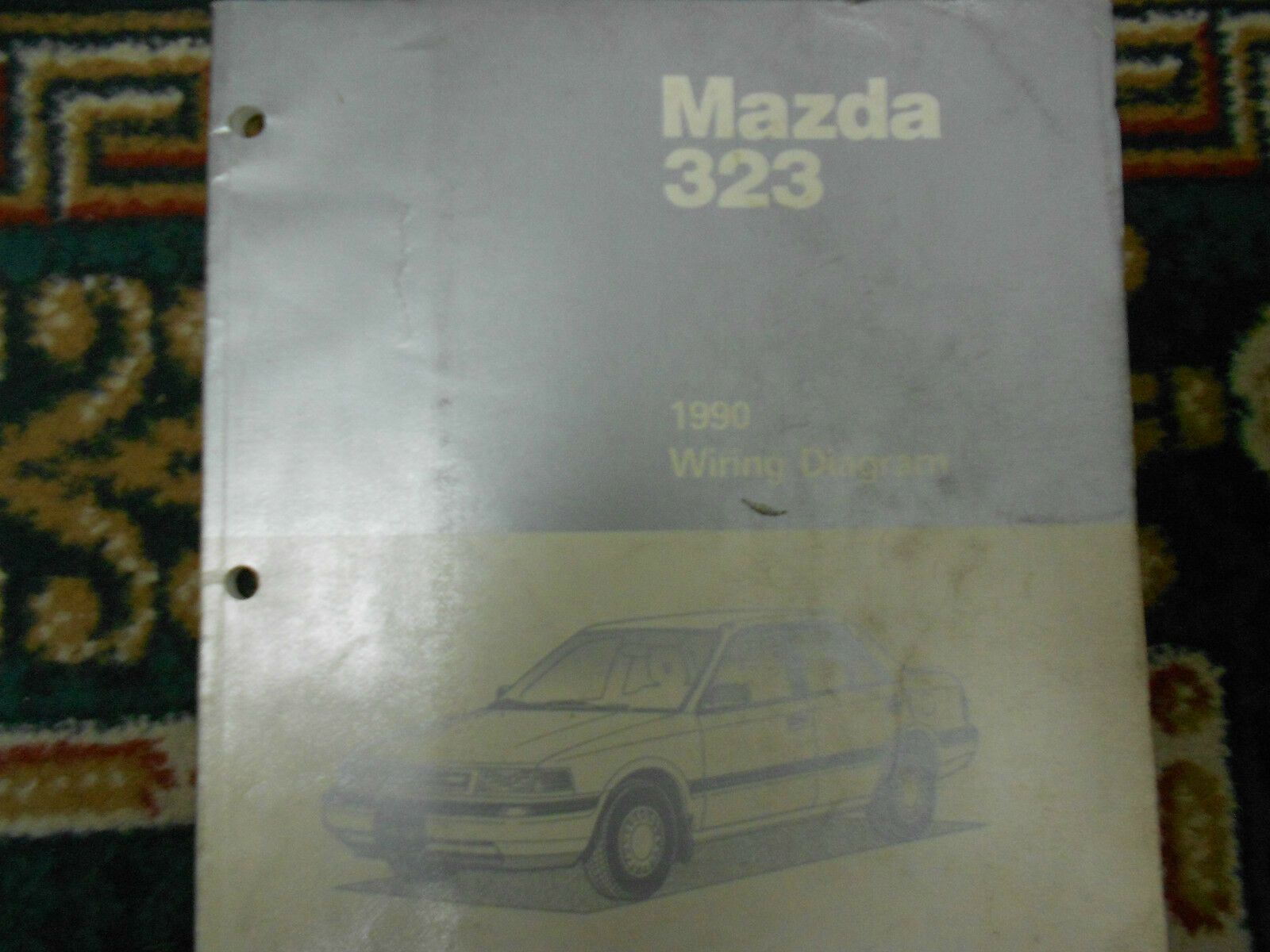 1990 Mazda 323 Wiring Diagram Electrical Service Repair Shop Manual 1988 B2600 1 Of 5only Available