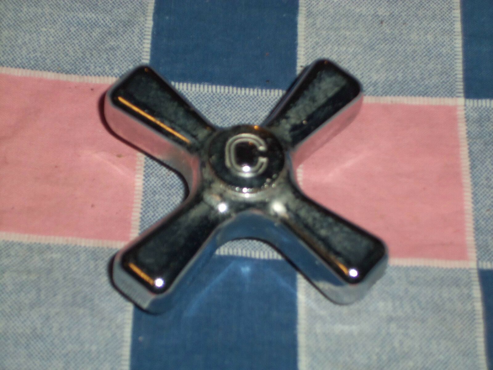 Vintage Old Bathroom Metal Cold Water Knob  In As Found Condition