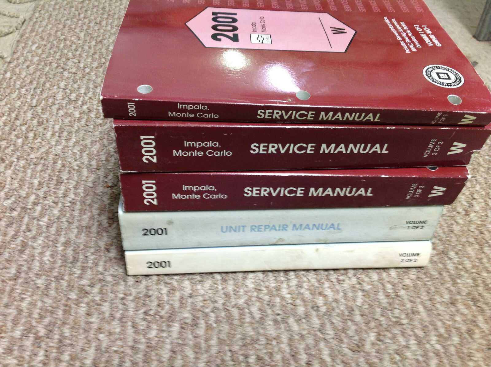 2001 Chevy Chevrolet Impala Monte Carlo Service Shop Repair Manual SET W  UNIT BK 1 of 8Only 1 available ...