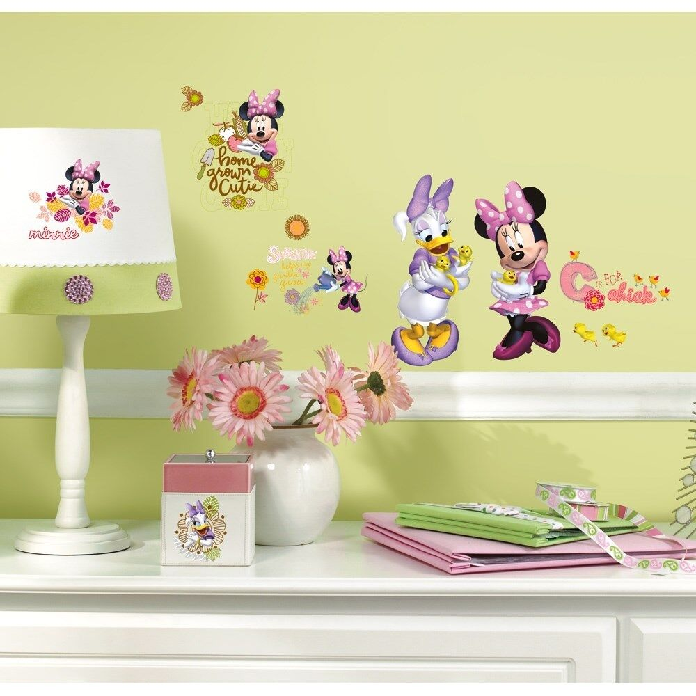 MINNIE MOUSE & DAISY BARNYARD CUTIES WALL DECALS Disney Stickers ...
