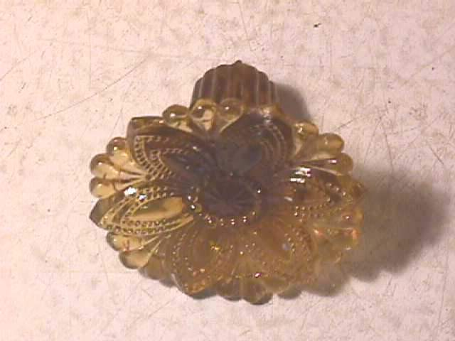 Antique Amber Glass Curtain Tie Back