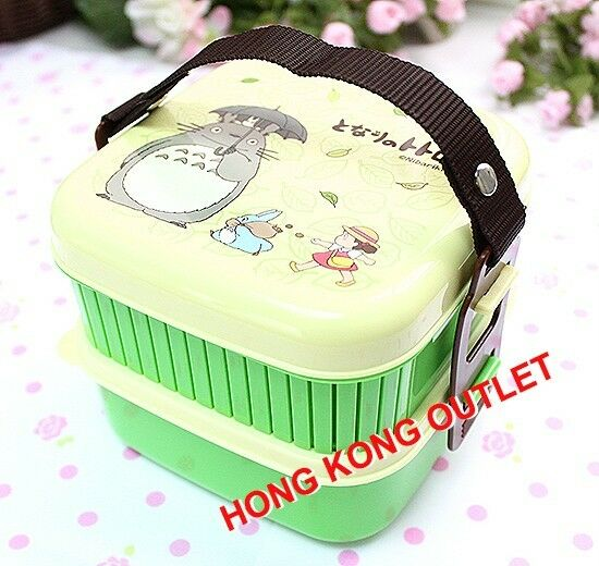 totoro 2 tier bento lunch box snack case set japan b25a. Black Bedroom Furniture Sets. Home Design Ideas