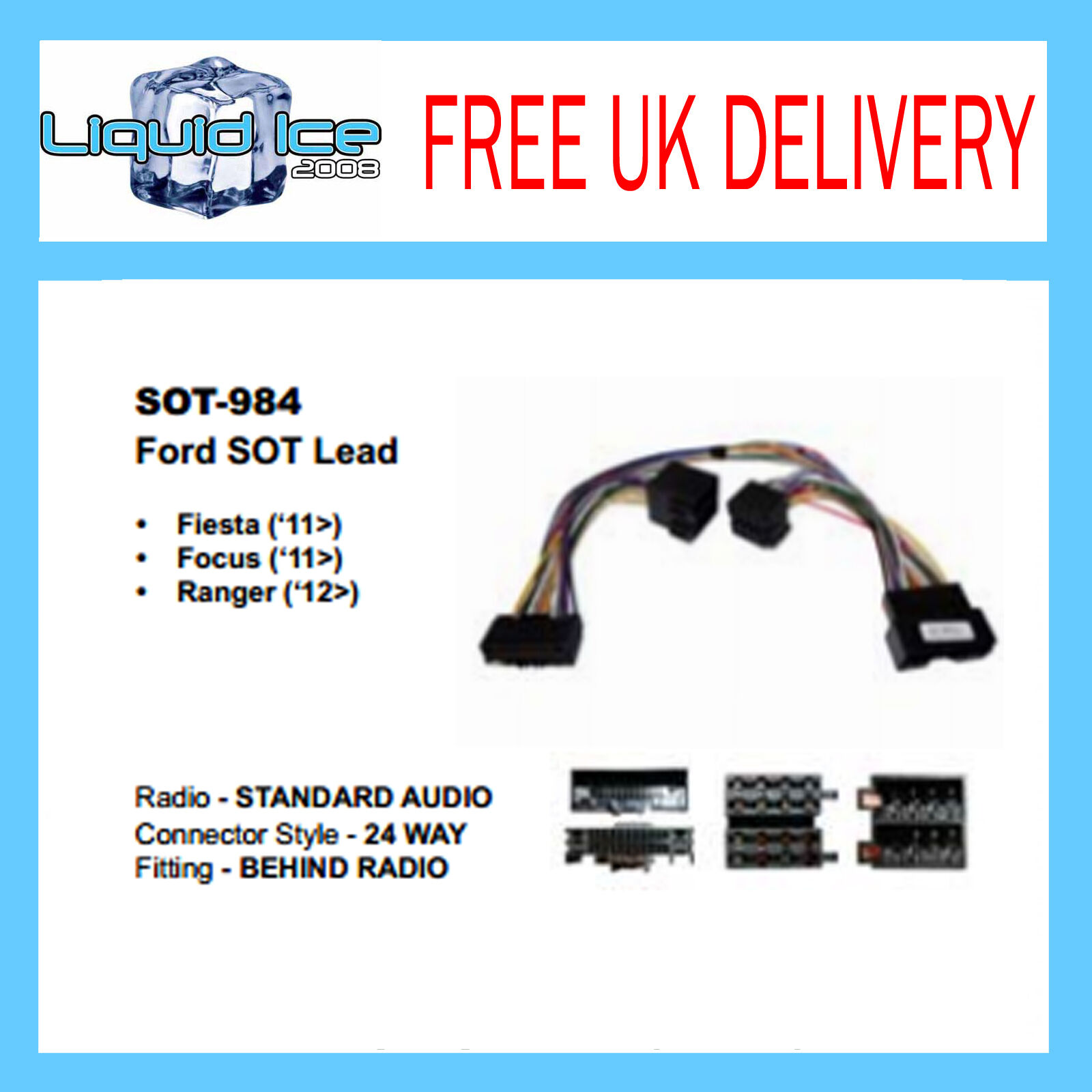 Sot 984 Ford Fiesta 2011 Onwards Telemute Parrot Harness Wiring Mki9200 Adaptor Lead 1 Of 1free Shipping See More