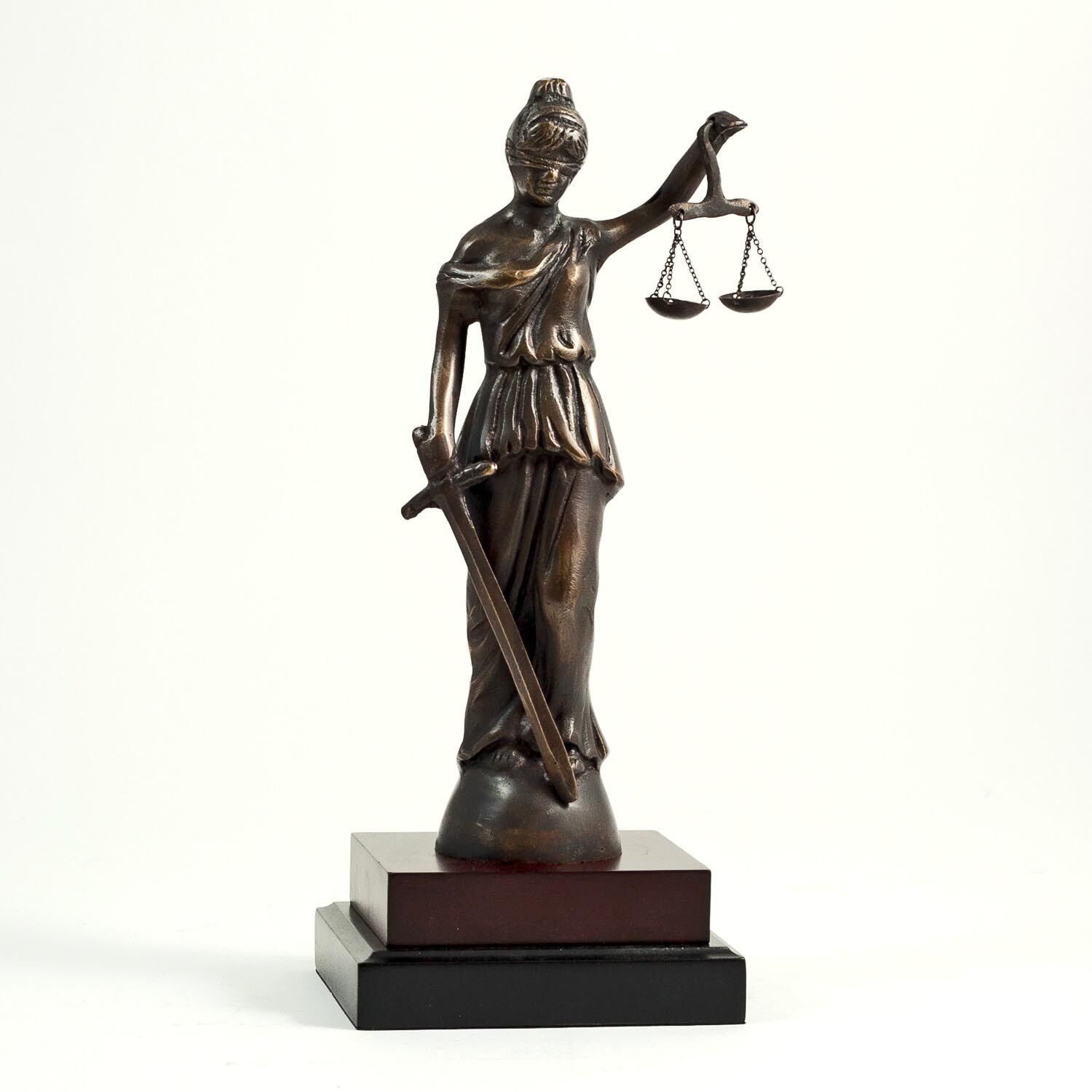 """LAWYERS & LEGAL - 13""""H BLINDFOLDED LADY JUSTICE SCULPTURE ..."""