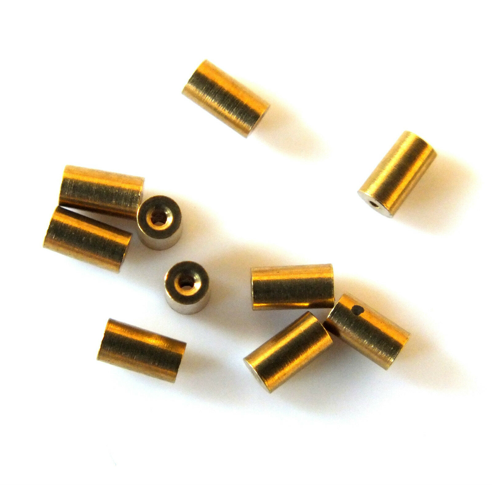 10x TAPERED CLOCK BUSH BUSHES INSIDE 0.8mm OUTSIDE 2.1mm - 2.2mm x 4mm LONG