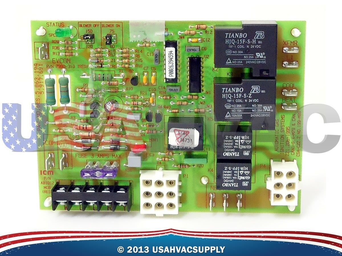 Oem Coleman Evcon Furnace Control Circuit Board 031 01932 001 Wiring Diagram 1 Of 1free Shipping