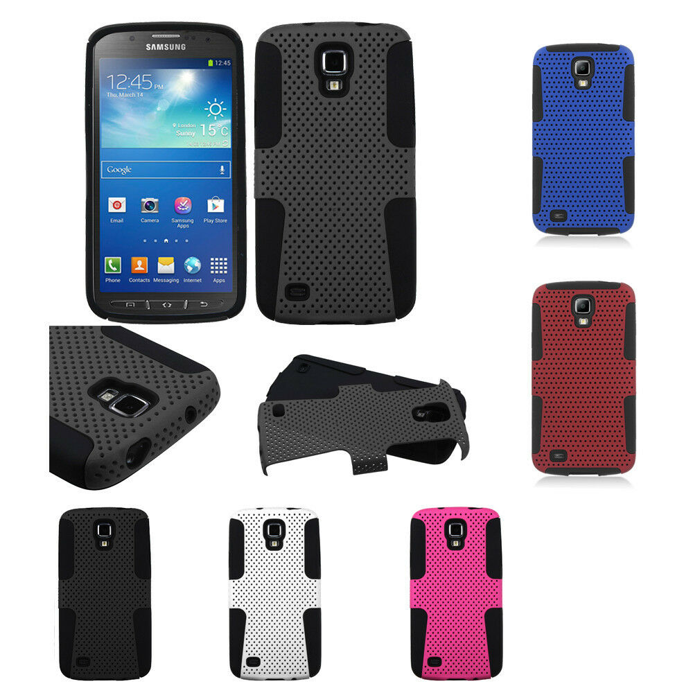 Samsung Galaxy S4 Active i537 Hybrid Mesh Case Skin Cover + Screen Protector 1 of 1FREE Shipping ...