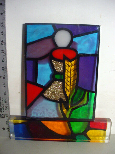 Corlorful Lucite Stained Glass Style Panels Holy Eucharist / Communion TCBC-25