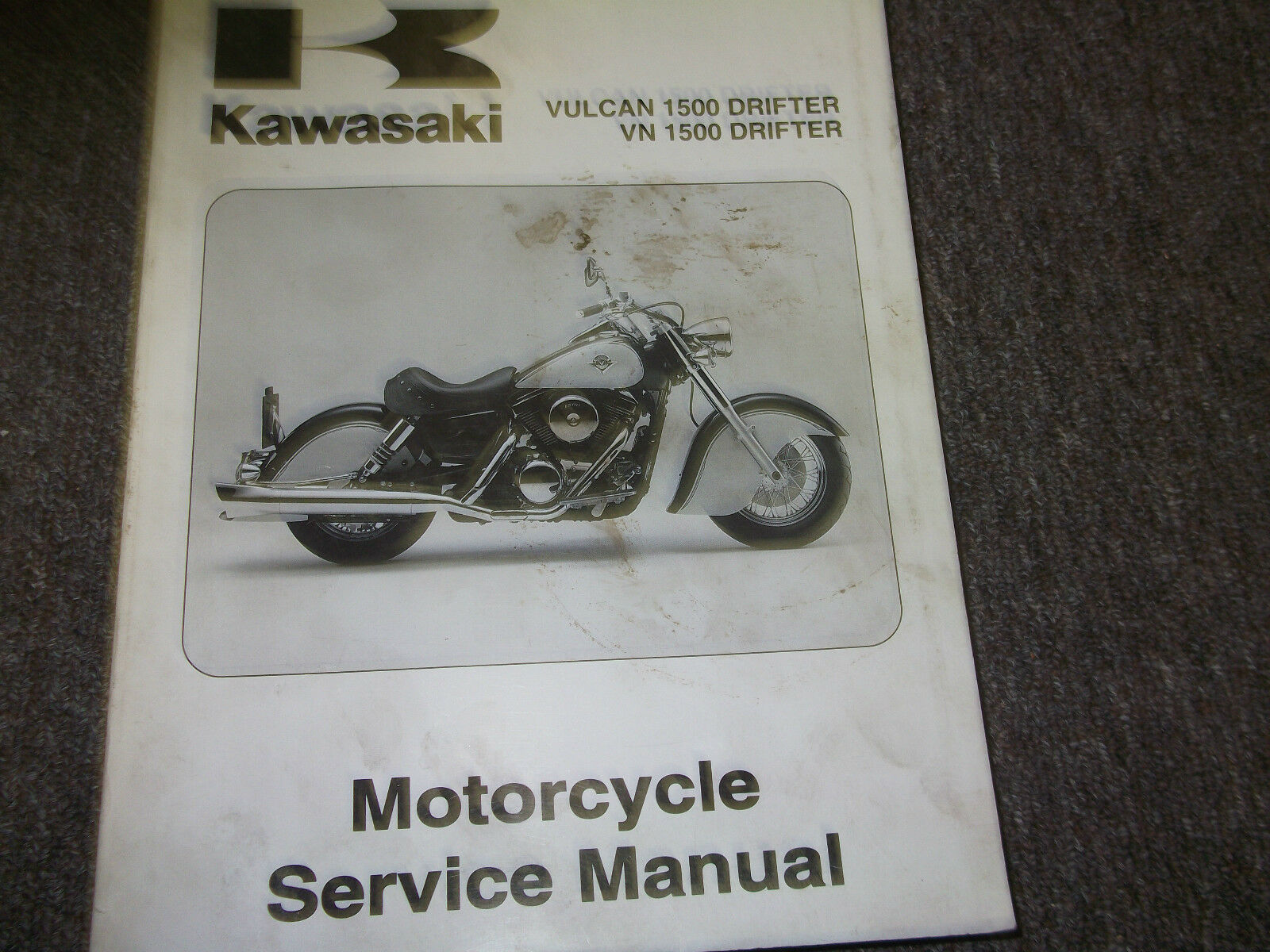 2002 Kawasaki Vulcan 1500 Drifter Vn1500 Service Repair Shop Manual 2000 Wiring Schematic Oem X 1 Of 5only Available