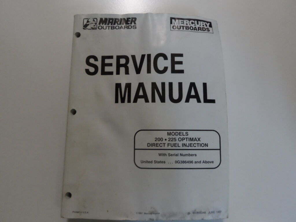 1 of 7Only 1 available Mercury Mariner Outboards Service Manual 200 225  Optimax DFI ...