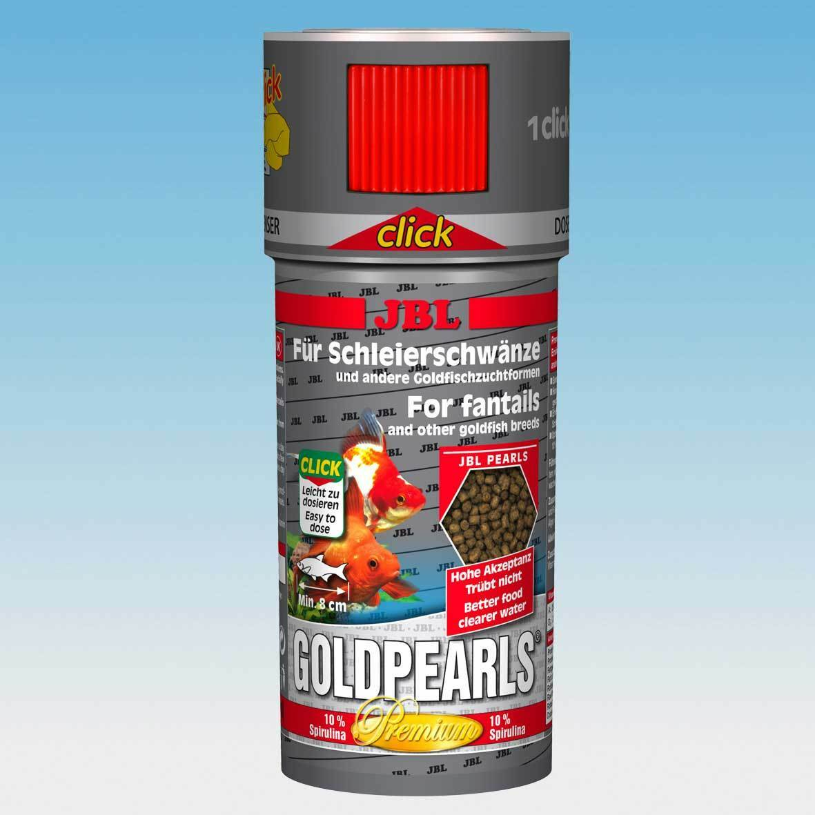 Jbl goldpearls clic 250ml poisson rouge nourriture for Nourriture poisson rouge composition