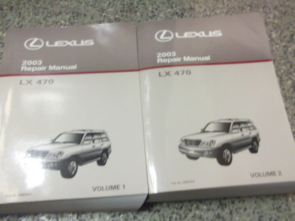 2003 Lexus LX470 LX 470 Service Shop Repair Manual SET FACTORY OEM 03 BOOKS  x