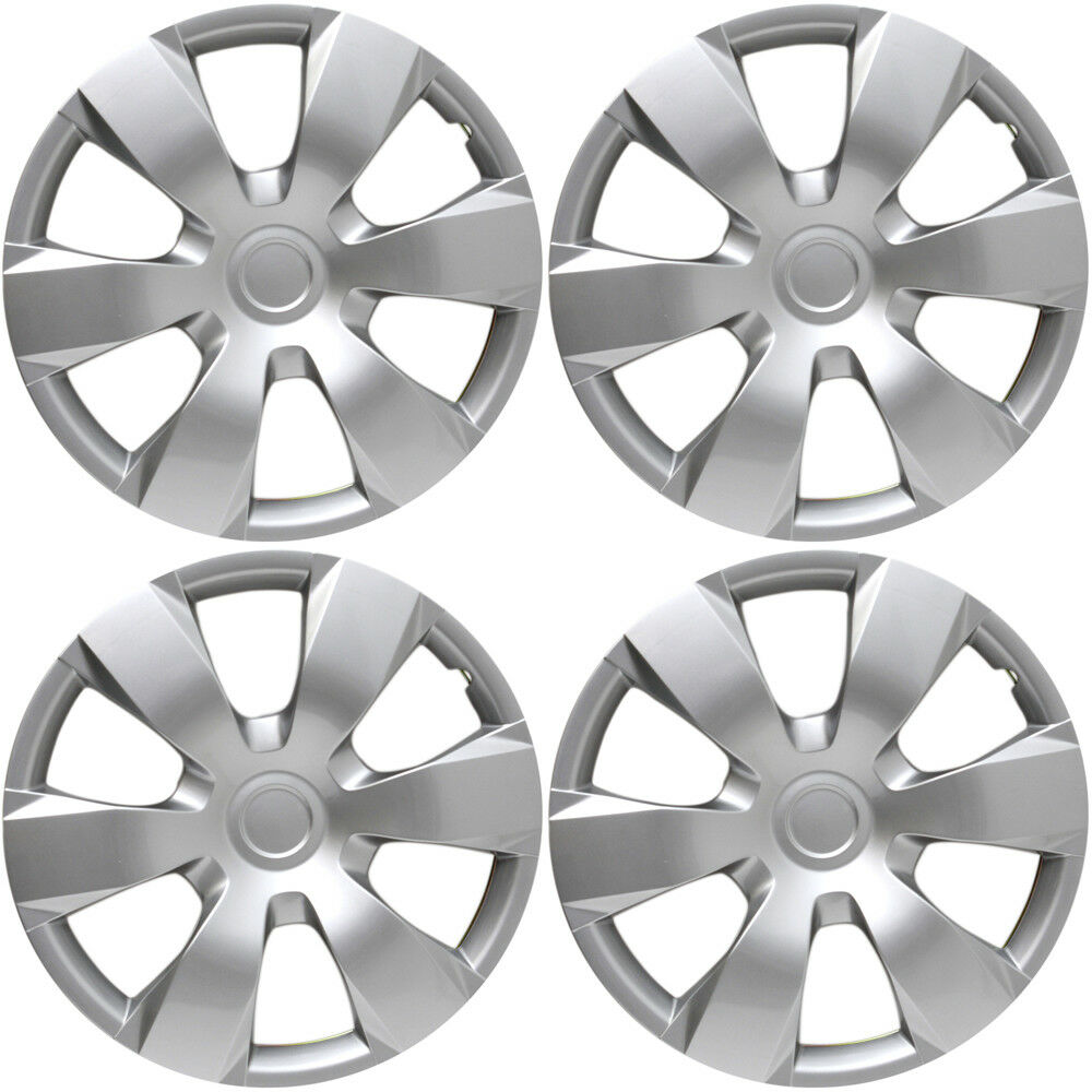 4 Pc Set Of 16 Quot Inch Silver Hub Caps Full Lug Skin Rim Cover For Oem Steel Wheel 32 98