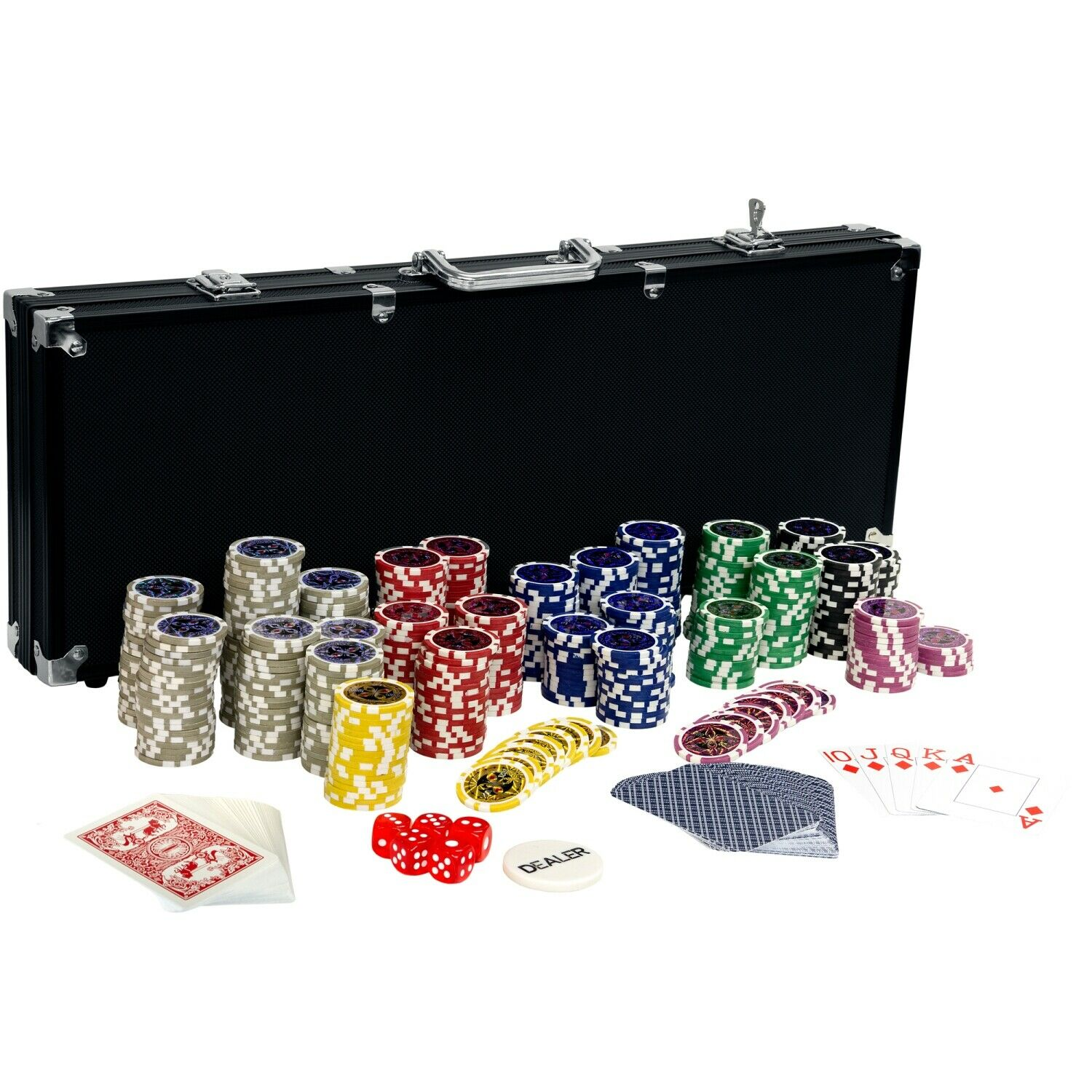 pokerkoffer pokerset poker black edition 500 set laser chips alu koffer jetons eur 37 90. Black Bedroom Furniture Sets. Home Design Ideas