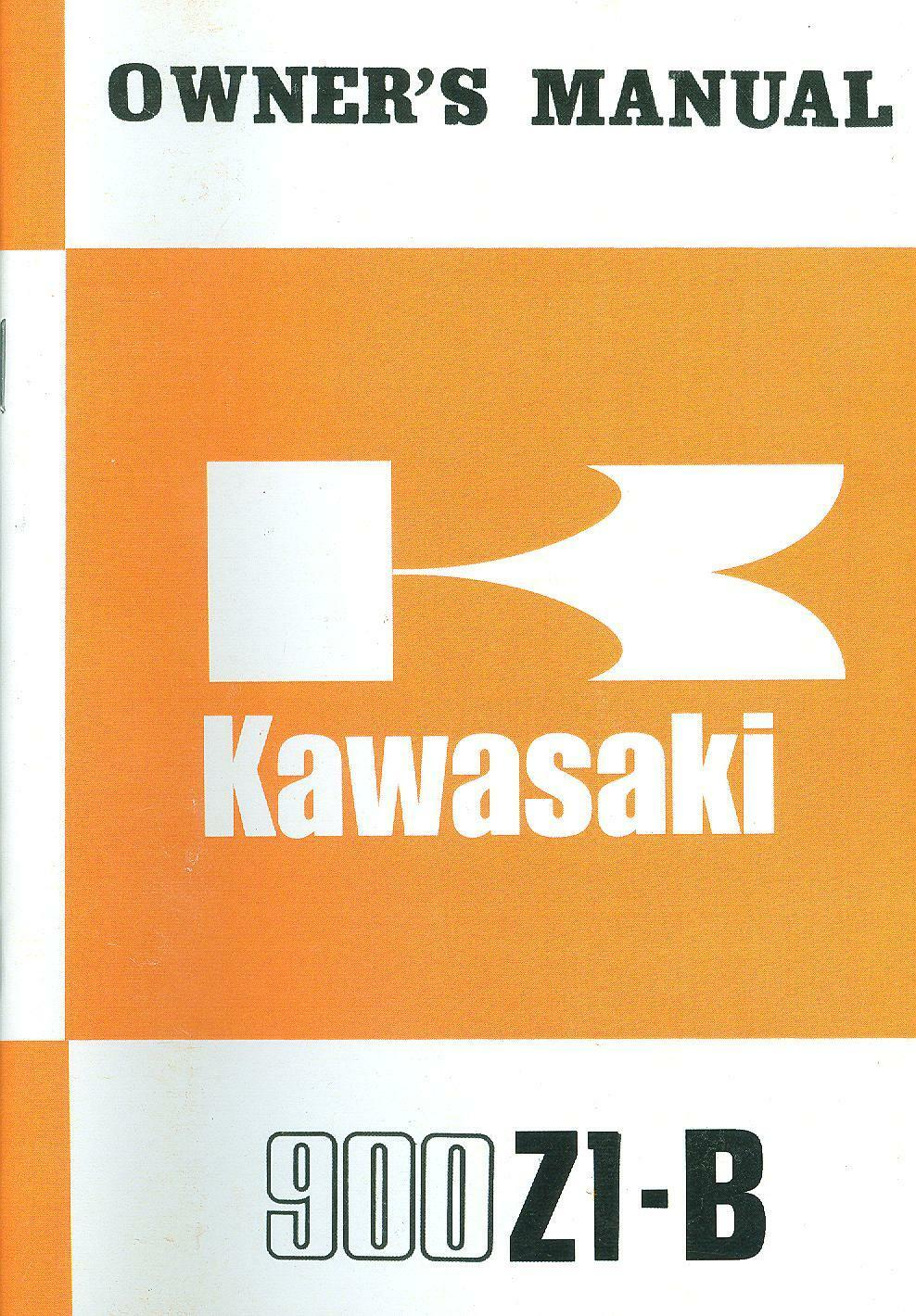 1975 Kawasaki 900 Z1 B Owners Manual 7495 Picclick Z900 A4 Wiring Diagram 1 Of 1only 3 Available