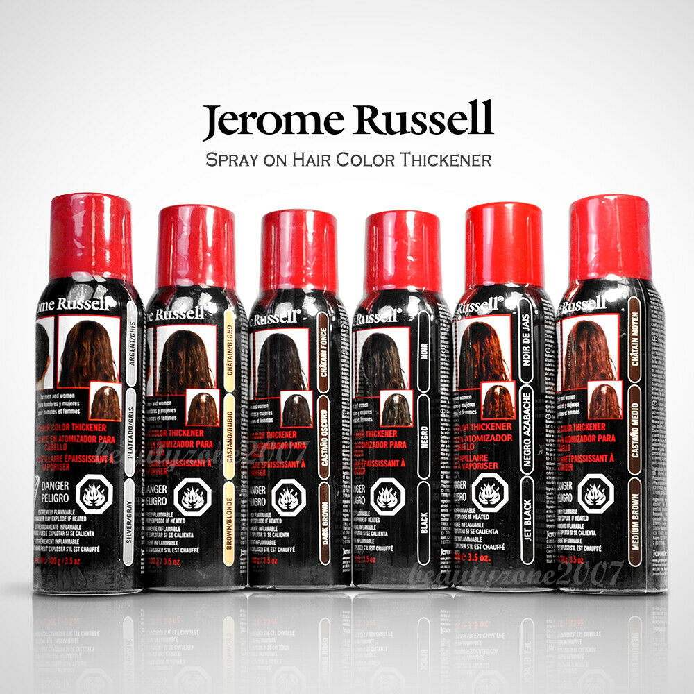 Jerome Russell Spray On Hair Color Thickener 35 Oz Choose From 6